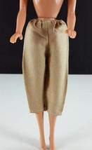Barbie Linen Bermudas Tan Elastic Waist Clone 1960s Clothing - $14.84
