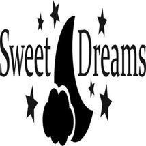 Sweet Dreams Stars Moon Clouds Vinyl Wall Art Quote Decal Words Design - $24.99