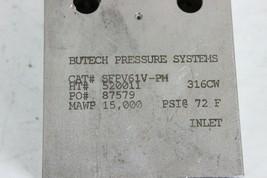 Butech SEPV61V-PM Needle Valve 15,000 Psi Stainless Steel New image 2