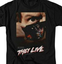 They Live t-shirt retro 80s Sci-Fi movie poster Roddy Piper graphic tee UNI607 image 3