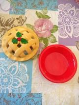 Vintage 2 Piece Ceramic Pie Dish Plate Baking Rack Accessory Decoration ... - $22.99