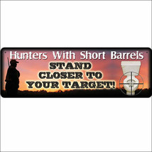 U-1416 10.5 inch x 3.5 inch RIVERS EDGE LARGE TIN SIGN HUNTERS WITH SHOR... - $10.95