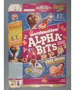 2002 MT Cereal Box POST Marshmallow Alpha-Bits E.T. EXTRA-TERRESTRIAL [Y155B3d] - $20.16