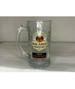 Bacardi Oakheart Spiced Rum Bat 12 Oz Glass Mug Stein Glass Mug - $9.49