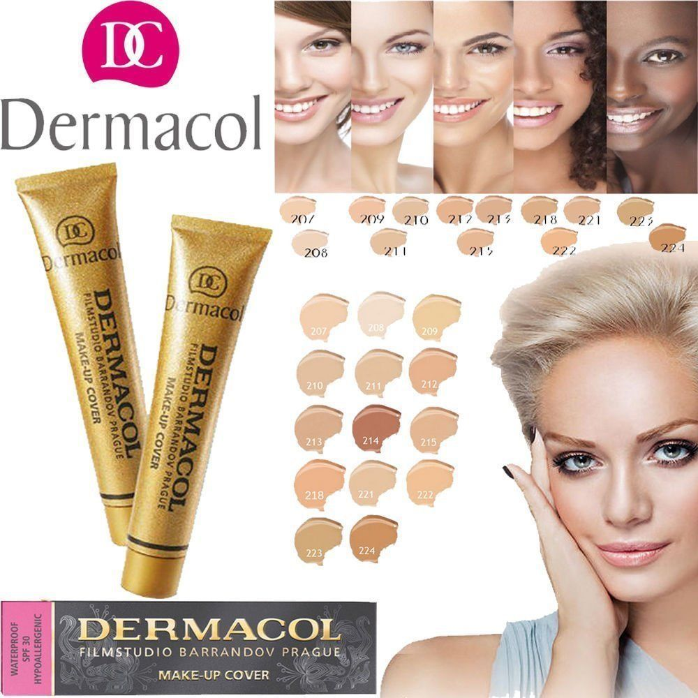S l1600. S l1600. Previous. Dermacol Foundation High Cover Makeup Hypoallergenic Waterproof SPF30