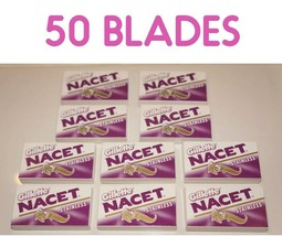 50 Gillete NACET STAINLESS Double Edge Razor Blades Made in Russia - $9.75