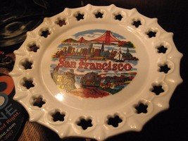 San Francisco Souvenir Plate - California Chinatown Golden Gate Bridge C... - $19.79