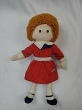 "Vintage LITTLE Orphan Annie Cloth 1982 Knickbocker Rag Doll 16"" Sandy - $9.50"