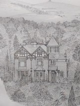 FINE ORIGINAL 20TH C. PENCIL DRAWING OF A COUNTRYSIDE HOUSE - SIGNED MOR... - $35.07