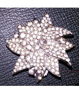 Jomaz 3 Dimensional Pinwheel - Flower Brooch Pave Set Rhinestones 1960's - $75.11