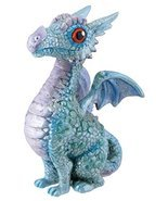 SUMMIT BY WHITE MOUNTAIN Blue Baby Dragon Figurine - £7.93 GBP