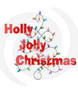 Holly Jolly Christmas Font 6smp-Digital ClipArt-Tshirt-Jewelry-Holiday-S... - $2.50
