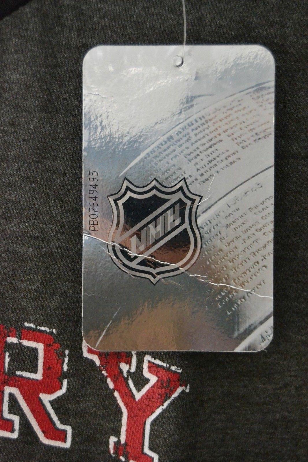 NHL Womens Calgary Flames 3/4 Raglan Sleeve Distress Logo T-Shirt Sz 2X Gray image 3