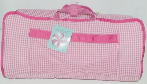 Oh Mint 002BGHP Gingham Toddler Nap Roll Color Hot Pink