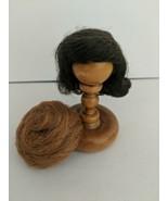 Miss Barbie 1964 Original Side Part Brunette Flip Wig And Red Bubble Cut... - $43.56