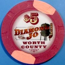 $5 Casino Chip, Diamond Jo, Northwood, IA. W39. - $6.50