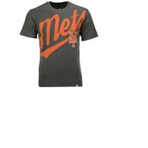 New Mlb New York Mets Majestic Men's Super Script T-Shirt Size L - $5.00