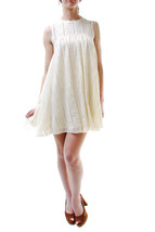 Free People Women's Authentic Flowers Lace Mini Dress White Off Size M 8... - $46.93