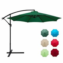 Aoxun 10ft Patio Offset Cantilever Umbrella - Market Umbrellas Outdoor U... - $129.84