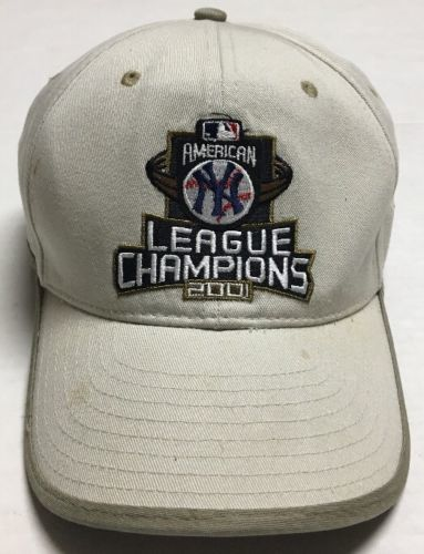 New York Yankees Hat American League Champions Cap 2001 Destroyed World Series