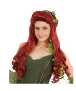 Poison Ivy  Pamela Lillian Isley Red Long Curly Cosplay Wig Hair - $26.03
