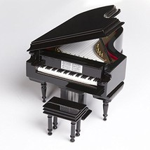 Broadway Gifts Black Baby Grand Piano Music Box with Bench and Black Case - $90.30