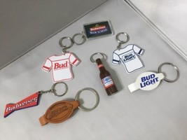 LOT OF 7 BUD BUDWEISER KEY CHAINS BOTTLE OPENER Openers P - $44.54