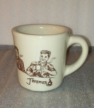 Javaman Mug / Morning Evolution / Vintage RARE Coffee Tea Home Office Decor - $96.03