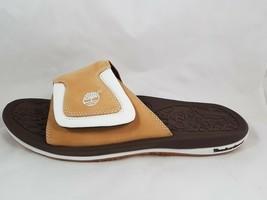 NIB Timberland Men's Sandals Active Slide Retro Wheat Ble 61012 Leather Size 13 - $49.99