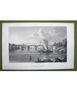 GERMANY Saxony Nienburg at Weser Hannover - 1820s Copper Engraving Cpt B... - $7.65