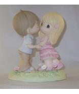 Always In My Heart Precious Moments Boy Girl Heart Base Flowers Love NWOB Pink - $58.40