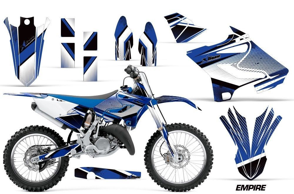 Dirt Bike Decal Graphic Kit MX Wrap For Yamaha YZ125 YZ250 2015-2018 EMPIRE BLUE