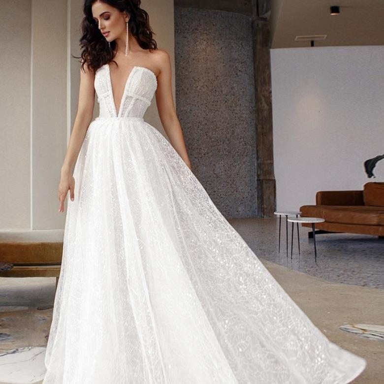 Tter shiny lace wedding dresses v neck sleeveless beach bridal gowns boho wedding gowns sequined