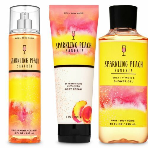 Primary image for 3 Pc. Bath & Body Works Sparkling Peach Sangria Gift Set New