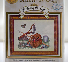 Fishing Basket Counted Cross Stitch Kit by Cross My Heart Inc - Fits 8x1... - $9.45