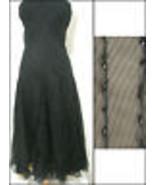 Donna Karan Dress Black Silk Bead Trim Strapless Swing Cocktail NWOT - $269.99