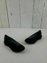 Women's 7B/37 BCBG MAXAZRIA Black Suede Leather Wedge Slip on Made in Brazil - $14.50