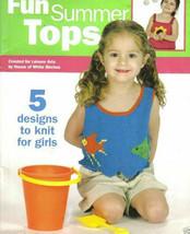Leisure Arts Fun Summer Tops Knit 5 Designs for Girls HWB 4488 Swimming ... - $14.69