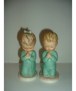 Pair Goebel Praying Boy and Girl A Child's Prayer & Bless Us All - $45.00