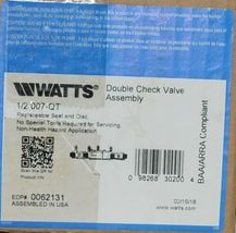 Watts Double Check Valve Assembly 1/2 Inch 007 QT Backflow Preventer 0062131 image 7