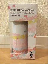 Ana Starbucks Japan Via® Matcha & Handy Stainless Steel Bottle Sakura 2017 New - $99.95