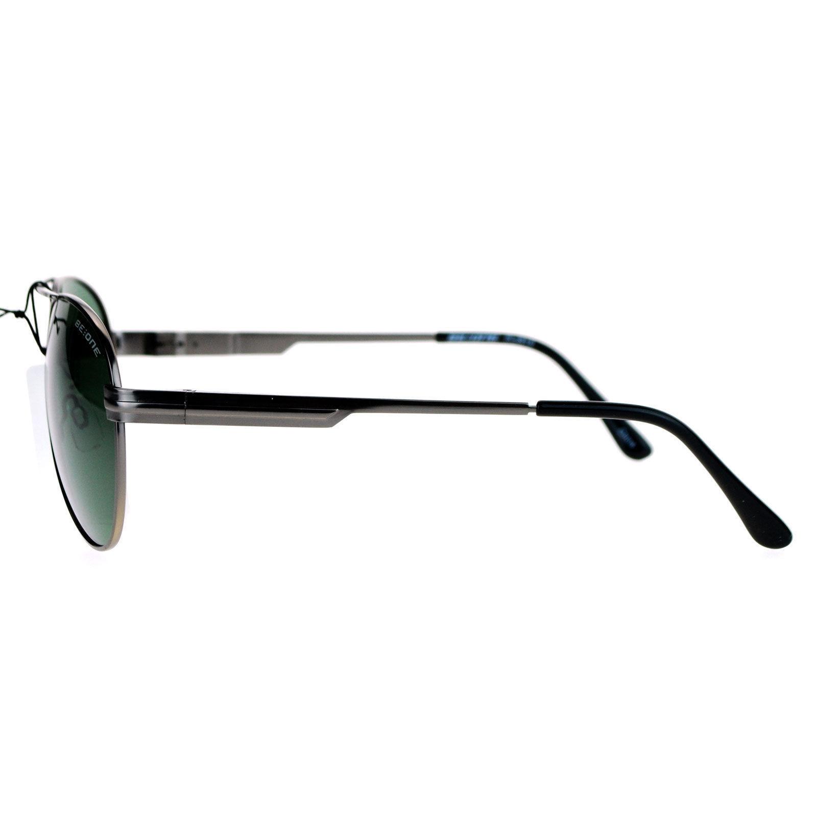 Be One Polarized Lens Aviator Sunglasses Metal Frame Spring Hinge