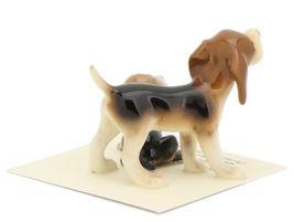 Hagen Renaker Miniature Dog Beagle and Puppy Ceramic Figurine Set image 5