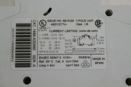Allen Bradley 1489-A3D060 Circuit Breaker 6 Amp 3 Pole AB-5329 6a Broken Fins image 2