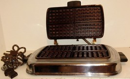 Vintage WESTINGHOUSE Stainless Steel Waffle Iron STC-44 With Cord - £18.00 GBP
