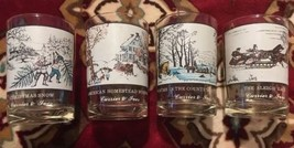 Currier & Ives Arby's Winter Theme Glasses Set Of 4 Vintage Collectibles - $35.00