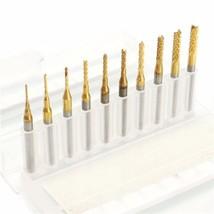 10pcs 0.8-3mm Titanium Coated End Mill Cutter Milling Cutter - $9.95