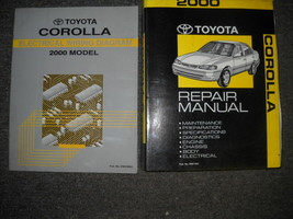2000 toyota corolla service repair workshop manual set oem factory with ewd - $63.84