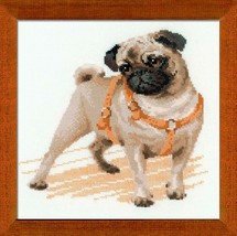 Pug Dog Cross Stitch Kit Riolis - $19.00