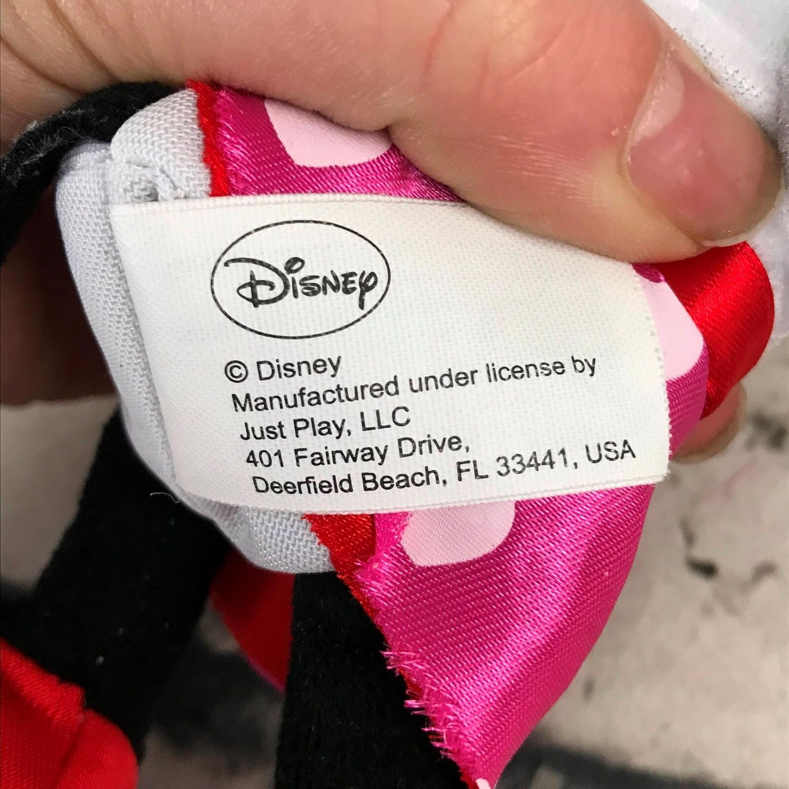 Disney Minnie Mouse Plush Doll Pink Polka Dot Heart Stuffed Animal Soft Toy
